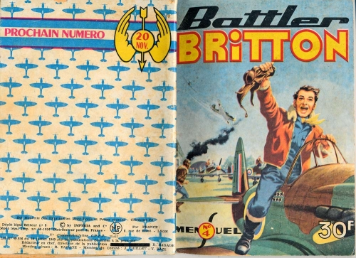 battler britton,biggles,imperia,hugo pratt,clostermann,bandes dessinées de collection,bar zing de montluçon,tarzanides,doc jivaro