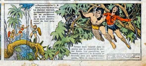 tarzanides,tarzan,hachette,le fils de tarzan,edgar rice burroughs,bd,bd anciennes,burne hogarth,junior,censure